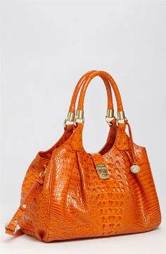 1eafff384 Brahmin Elisa Croc Embossed Leather Shoulder Bag