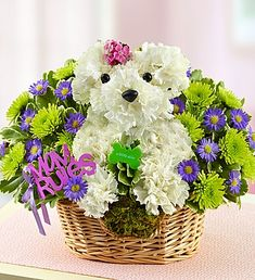 Is mom a dog lover? Show mom who rules and who runs the pack with our a-DOG-able Mama Paws! #dogflowers #flowersformom