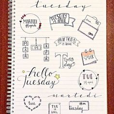 some inspiration for your next tuesday! _ un po' d'ispirazione per il vostro prossimo martedì  #tuesday #banner #bulletjournal  #stationary #stationaryaddict #handlettering #calligraphy #handlettered #moderncalligraphy  #midoritravelersnotebook #lettering #font #rockyourhandwriting #type #letters #filofaxgoodies #planner #planning #planneraddict #plannernerds #plannercommunity #plannersupplies #planwithmechallenge #filofax #plannerlove #bulletjournaljunkies #bulletjournalchallenge #doodle…