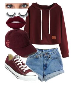 """♥️"" by uunicornns on Polyvore featuring Levi's and Converse"