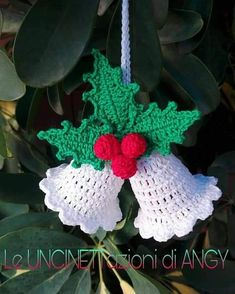 Best 10 Crochet angel Christmas ornament Home decor Crochet Christmas Decorations, Crochet Decoration, Crochet Christmas Ornaments, Christmas Crochet Patterns, Holiday Crochet, Christmas Knitting, Christmas Bells, Crochet Gifts, Christmas Diy