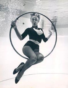 An underwater dancer, Florida, 1959.