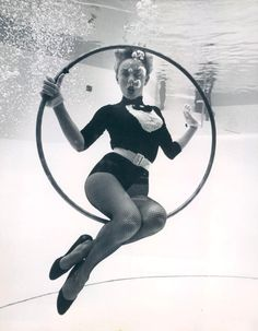 Under water hoops, Florida, 1959. #vintage #1950s #swimming
