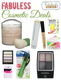 Great deals on make-up and cosmetics! Amazing!!