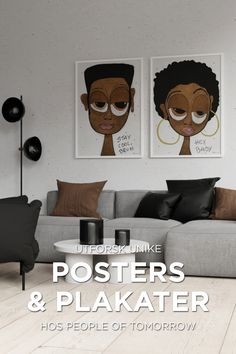 Shop unike posters & plakater hos www. Bedroom Wall Designs, Flat Ideas, Afro Art, Edamame, Art Themes, Living Room Art, Art Sketchbook, Art Oil, Cool Art