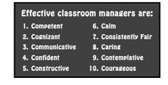 Happy #Friday! Here are the top 10 qualities of effective classroom managers:  #Teachers #TeachingTips