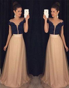 2017 Custom Made Unique ChiffonProm Dresses,Off The Shoulder Evening Dresses, Beading Prom Dresses,Floor Length Evening Dress