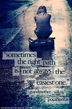the right path.