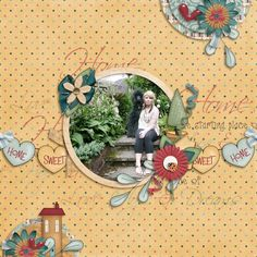 Layout using {Home Sweet Home} Digital Scrapbook Kit by LouCee Creations available at Pickleberry Pop https://www.pickleberrypop.com/shop/product.php?productid=39530&page=1 #louceecreations