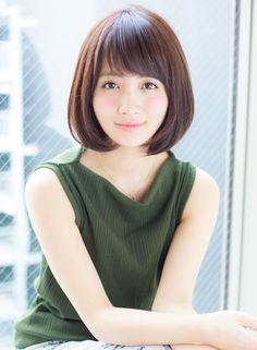 年齢問わず耳かけワンカールひし形ボブ 【AFLOAT JAPAN】 http://beautynavi.woman.excite.co.jp/salon/28130?pint ≪ #bobhair #bobstyle #bobhairstyle #hairstyle・ボブ・ヘアスタイル・髪型・髪形 ≫