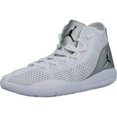 62c413b8da67 Nike Men s Jordan Reveal White   Black Metallic Silver Infrared 23 Mid-Top  Mesh Basketball Shoe - 9.5M