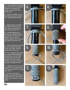 Page 2 Paracord Knife Handle, Paracord Belt, Paracord Braids, Paracord Bracelets, Lanyard Knot, Instruções Origami, Survival Knots, Knots Guide, Paracord Tutorial
