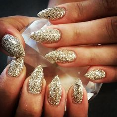 Not a fan of sharp stilettos, but I'd do this with the almond shape