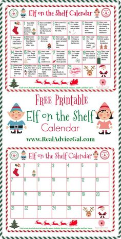 Get your Elf's fun and mischievous pranks ready for Christmas. Get our free printable Elf on the Shelf calendar so you can plan your elf on the shelf ideas.