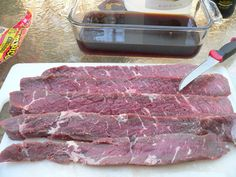 Easy recipe and directions for making healthy organic delicious biltong at home. How to make authentic South African tasting biltong and dry wors. Charcuterie, Beef Recipes, Cooking Recipes, Cooking For A Group, Biltong, Cooking Pumpkin, Cooking Zucchini, South African Recipes, How To Make Sausage