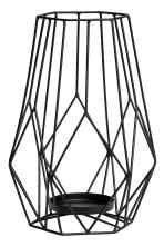 Large metal candlestick - Black - Home All | H&M GB 2