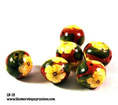 Handmade Polymer Clay #Beads, Polymer Clay Beads for Sale, Jewelry Making Supplies