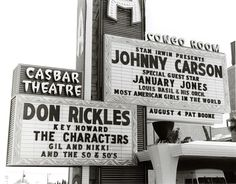 Vintage Vegas - Johnny Carson & Don Rickles Vintage Menu, Vintage Signs, Johnny Carson, Vegas Shows, My Kind Of Town, Las Vegas Strip, Las Vegas Nevada, Sin City, Yesterday And Today