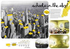 Schools in the Sky / Filipe Magalhaes, Ana Luisa Soares, André Vergueiro - Architectural drawing / rendering / diagram - Presentation layout