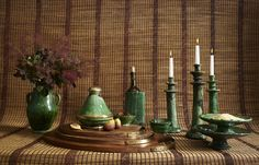 Green with envy over this Moroccan pottery collection commissioned in the Zagora region of Morocco.