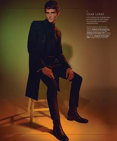 Shade Mullins photographed by A.P. Kim and styled by Terry Lu, for the latest issue of Essential Homme magazine.