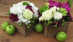 wood wedding | Wooden box centerpieces Wooden box centerpieces – Floral Artistry By ...