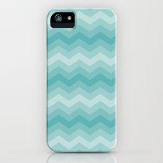 Aqua Chevron iPhone & iPod Case by Zen and Chic - $35.00