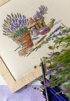 Another life - Other life: Cross stitch Lavander, Lavender Scent, Lavender Fields, Cross Stitch Love, My Favorite Color, Cross Stitching, Art Sketches, Art Projects, Embroidery