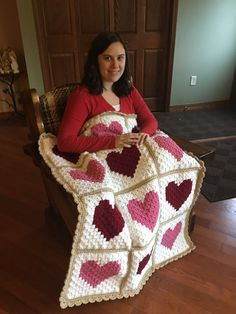 Crochet C2c, Crochet Heart Blanket, Chrochet, Afghan Crochet Patterns, Crochet Patterns For Beginners, Corner To Corner Crochet, Crochet Projects, Couture, Etsy