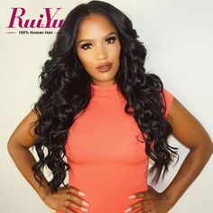 66.96$  Watch now - http://alij48.worldwells.pw/go.php?t=32612975373 - Brazilian Full Lace Human Hair Wigs For Black Women Glueless Lace Front Human Hair Wigs Body Wave Hair Wig Full Lace Front Wigs 66.96$