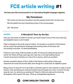 writing articles in english