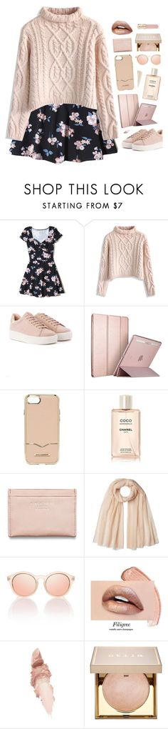 """""""875"""" by glitterals ❤ liked on Polyvore featuring Hollister Co., Chicwish, Rebecca Minkoff, Chanel, Acne Studios, Agnona, Le Specs, Maybelline, Stila and Smith & Cult"""