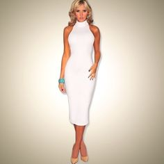 New Fashion Women Summer Dress Sleeveless Sexy Bandage Dress Red Turtleneck Party Dress Casual Pencil Dresses Vestidos Oh just take a look at this! Visit us Pencil Dress Outfit, Dress Outfits, Casual Dresses, Fashion Dresses, Pencil Dresses, Casual Clothes, Summer Clothes, Summer Outfits, Red Turtleneck