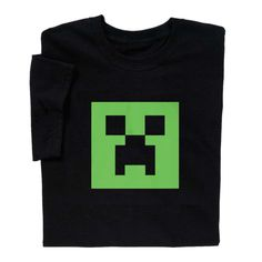 Make people jump and grab their diamond sword with this Minecraft Glow in the Dark Creeper T-shirt. Minecraft fun in every thread (or pixel). Find more Minecraft at ComputerGear.com