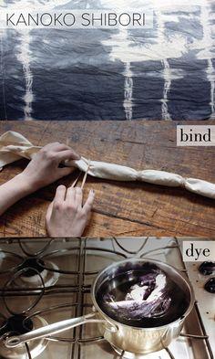 SHIBORI Tie Dye http://www.nomad-chic.com/tie-dye-modern-lux-style-textile-art.html