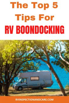 RV boondocking allows you to camp in some of the most beautiful places on earth. And best of all, it's often FREE or very low cost. This article explains the top 5 tips that you need to know to boondock successfully in your RV! #rvboondocking #rvdrycamping #rvcamping Best Camping Gear, Rv Camping, Camping Hacks, Rv Hacks, Camping Ideas, Cheap Rv Living, Buying An Rv, Rv Travel, Rv Life