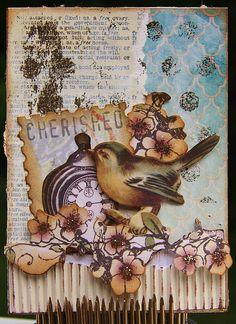 Artist Trading Card - bird & watch