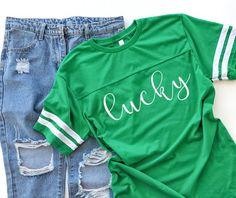 St Patricks Day Shirt, St Patricks Day Shirt Women, Lucky Shirt, Shamrock Shirt Women, Football St P Game Day Shirts, Kids Shirts, St Patrick Day Shirts, Drinking Shirts, Shirt Mockup, Jeans And Sneakers, St Patricks Day, Saint Patricks