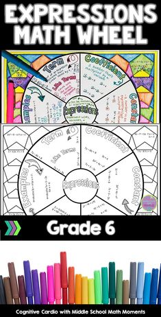 Try this graphic organizer to help your students learn or review parts of expressions and evaluating expressions. They can color the background and add to their interactive notebooks! #math