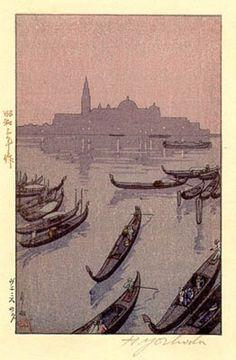 Evening in Venice  by Hiroshi Yoshida, 1928