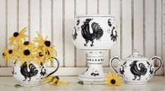 Italian rooster ceramic trio just in! Finder Not Keeper