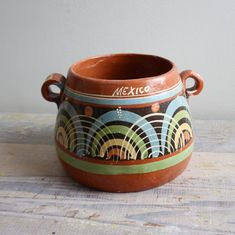 vintage mexican bean pot, used to make beans back in the day