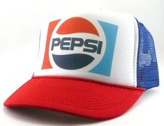 Pepsi Cola hat trucker hat mesh hat snapback hat new Vintage Trucker Hats 8a318fa4a366