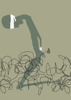 Amnesty International: End Inhumanity / Advertising Agency: Ogilvy & Mather, Frankfurt, Germany / Illustrator: Jawad Saleem Cannes, Ogilvy Mather, Ad Of The World, Social Environment, Amnesty International, Advertising Agency, Print Magazine, Print Ads, Human Rights