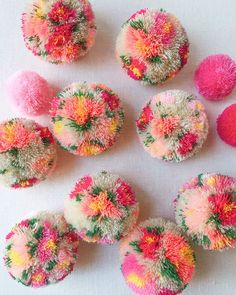 46692100f99 DIY floral pom poms Do It Yourself Crafts