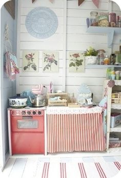 Play House Interior Ideas Beach Hut Cubby Houses Country Kitchen Homey