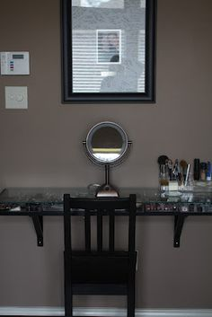 Portugal Ponderings: Makeup Station.... My creation, inspired by Pinterest!