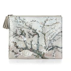 """""""Almond Branch"""" Flat Square Pouch by Vincent Van Gogh"""