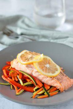 Instant Pot Lemon Pepper Salmon - Wholesomelicious