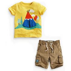 Cheap boys suit sets, Buy Quality children clothing set directly from China set kids Suppliers: 2016 Summer Children's clothing sets Casual cotton baby boy's suit set Kids short-sleeve yellow cartoon T-shirt +shorts Baby Set, Baby Boy Suit Set, Toddler Boy Suit, Boys Suit Sets, Boys Suits, Baby Boys, Toddler Boys, Baby Outfits, Boys Summer Outfits